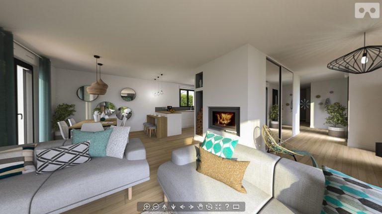 Visite Virtuelle pour Natilia, Leader Français de la maison individuelle en ossature bois