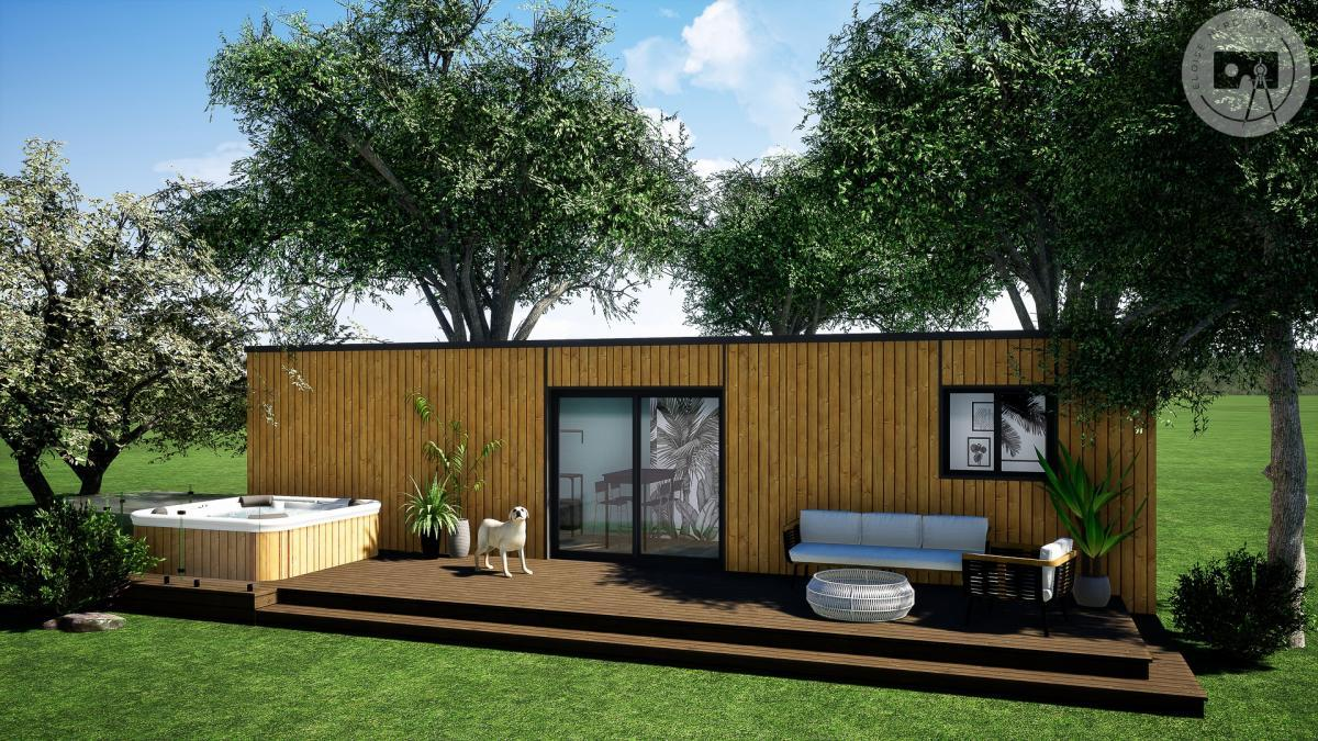 Modélisation 3D et rendu photoréaliste pour un container aménagé en habitation - MyBgbox Habitation